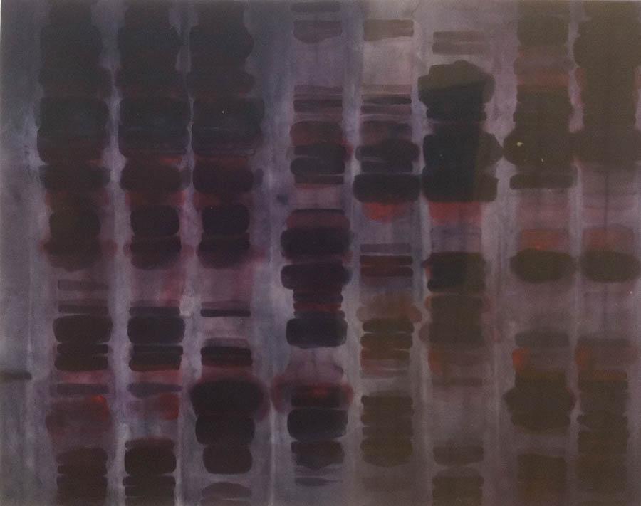 "Synthethic Enzyme Analog, 87"" x 110"", 1989"