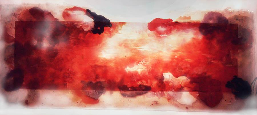 """Shiny (for Eva Hess), 120"""" x 288"""", 1972"""