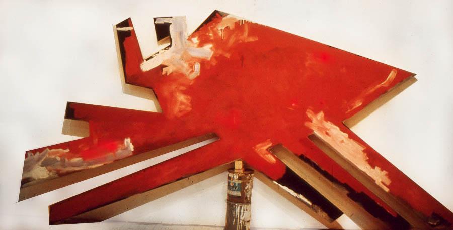 """Inca-Cola (for Maria Reiche), 108"""" x 198"""", 1976-7"""