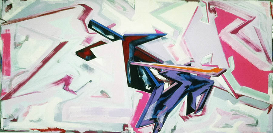 """Back from Nightmare (for Frank Stella), 84"""" x 168"""", 1982"""