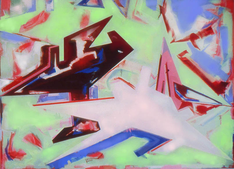 """Oh Mommy Mommy, 108"""" x 120"""", 1982"""