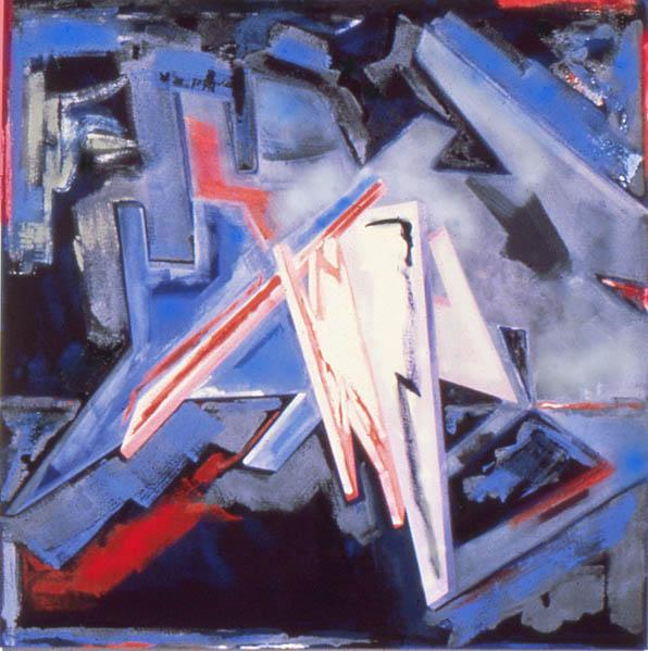 "Death Blaze Furor, 72"" x 72"", 1981"