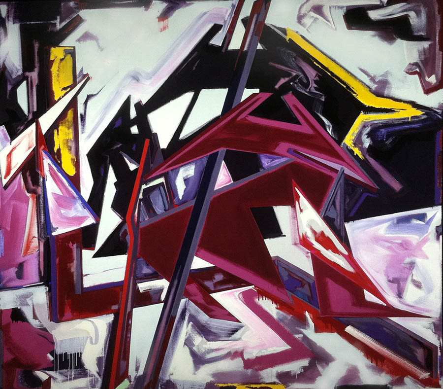 "Big Relief For A Big Headache, 108"" x 120"", 1984"