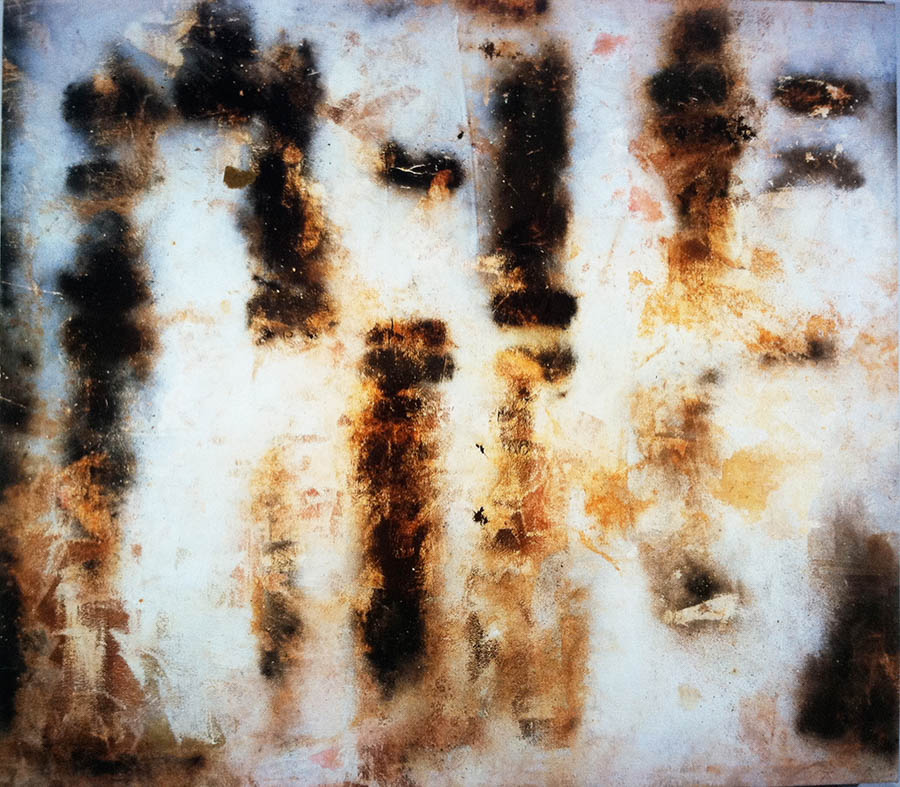 """Cold Steel Odor, 90"""" x 102"""", 1993"""