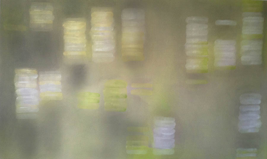 "Banana-Mango, 66"" x 108"", 1993-4"