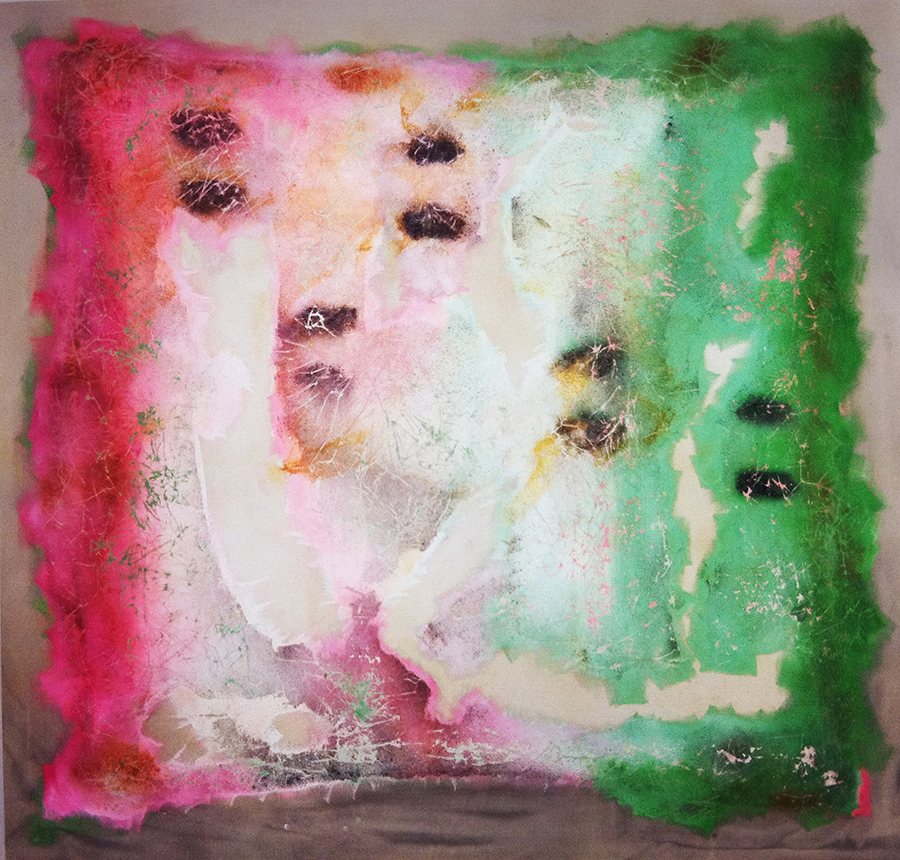 """Transgenic-Floupore, 114"""" x 120"""", 1996"""