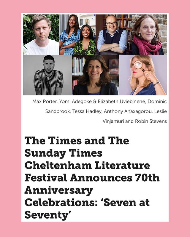 🗣WE HAVE SOME NEWS  We're so excited to be guest curators for this year's @cheltfestivals 70th anniversary! 🎉🙌🏾 We're creating very exciting events & can't wait for you to get involved! Look out for the programme coming soon 👀 #SevenAtSeventy