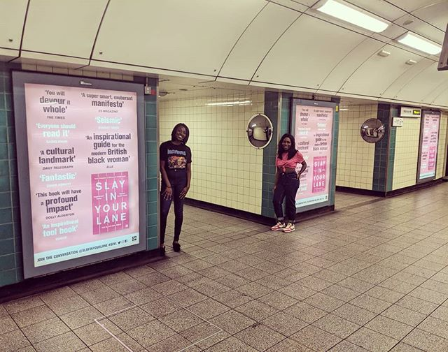 The Power of Three for the dynamic duo in Brixton underground station. QUICK MATHS 😍🙌🏾 #SIYL #SouthLondonsFinest