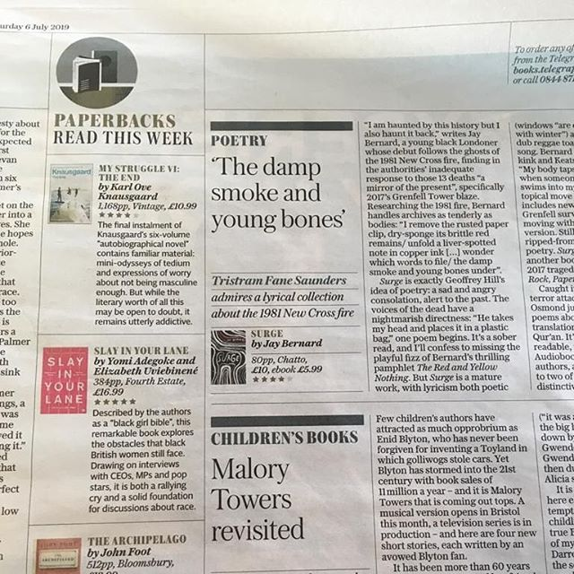 We spy with our little eye...a five star review of SLAY IN YOUR LANE in last week's @telegraph 'paperbacks to read' segment 👀🙌🏾 ⭐⭐⭐⭐⭐ If you haven't bought our paperback yet, why not get it now - it's cheaper and can fit into your handbag! #SIYL