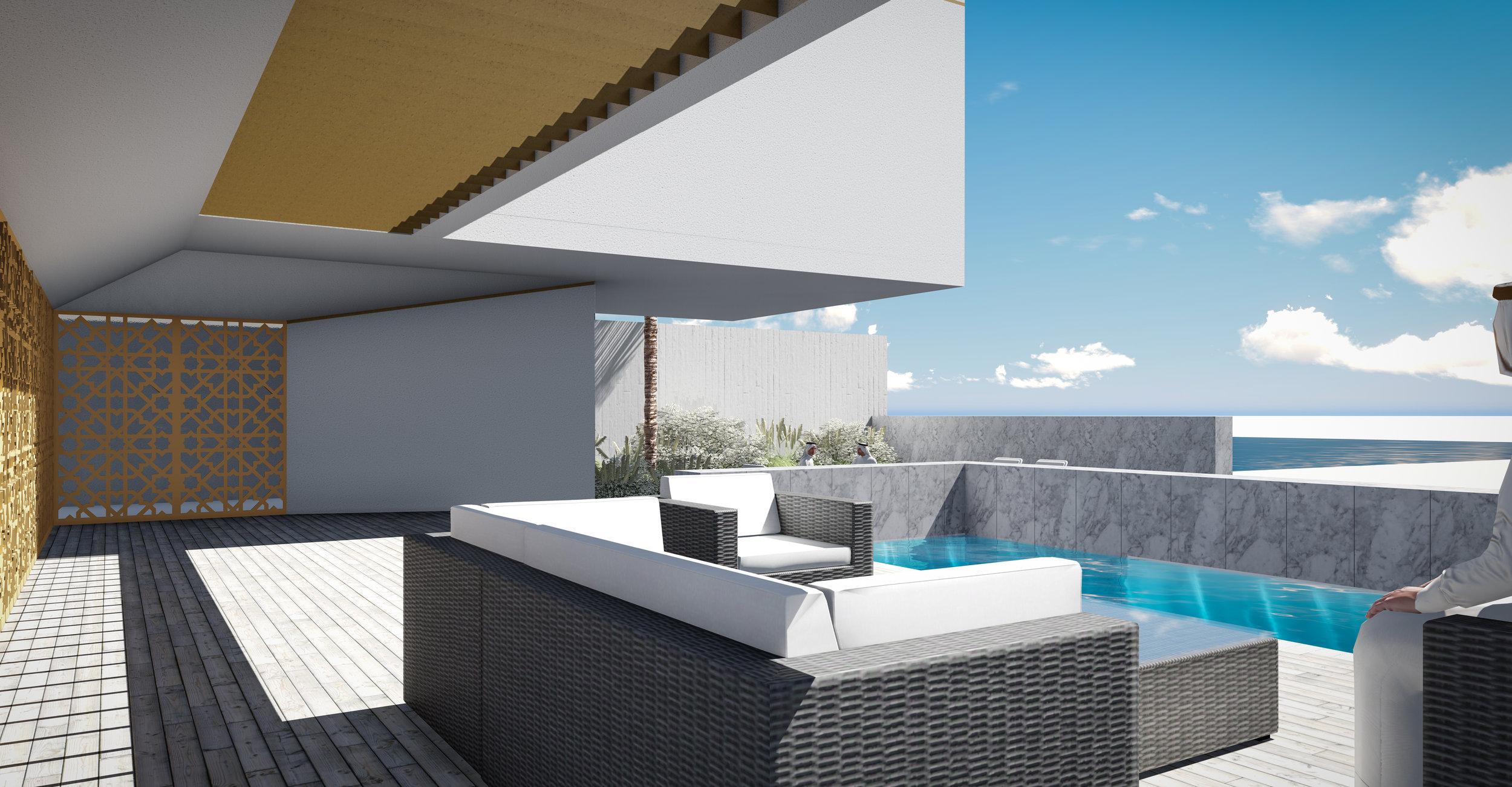 © Copyright Studio DS 2018 - the Beach Villa Terrace View