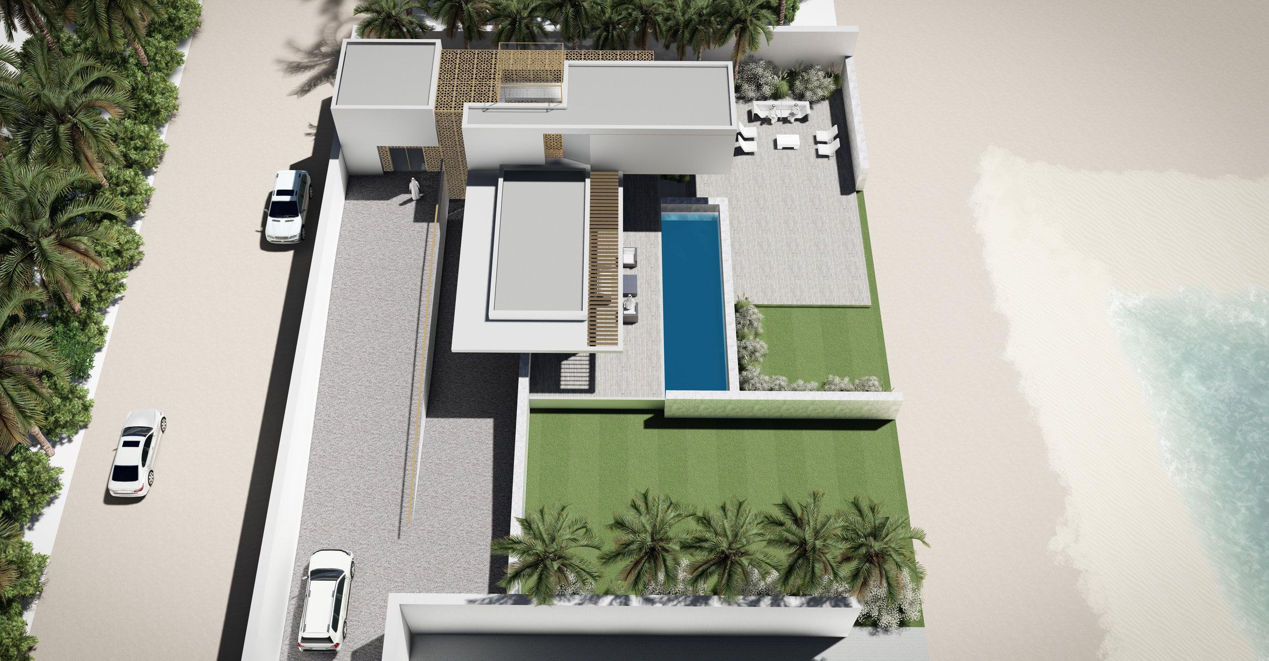© Copyright Studio DS 2018 - the Beach Villa Aerial View