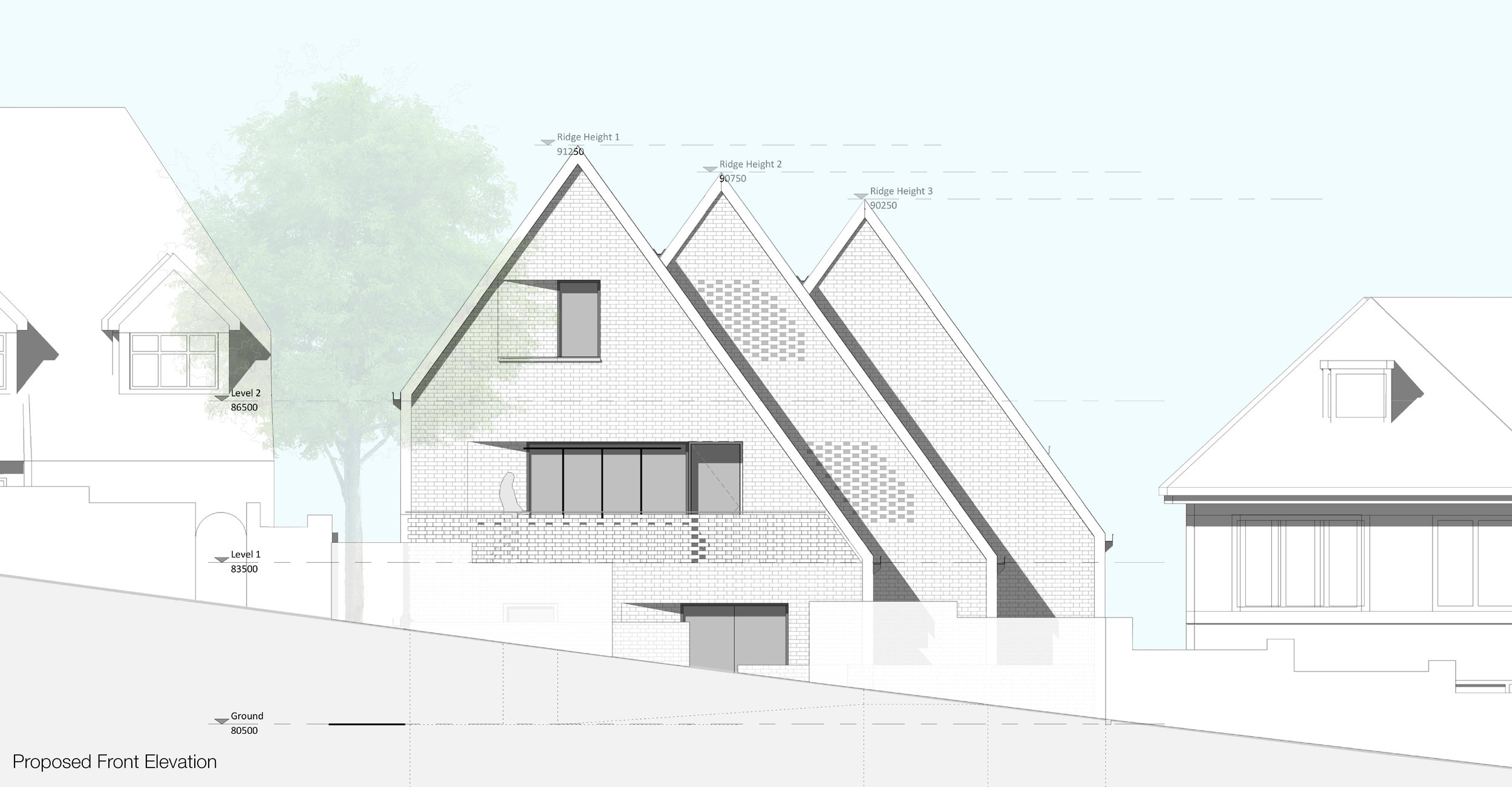 © Copyright Studio DS 2018 - the Multi Home Smart Home Front Elevation