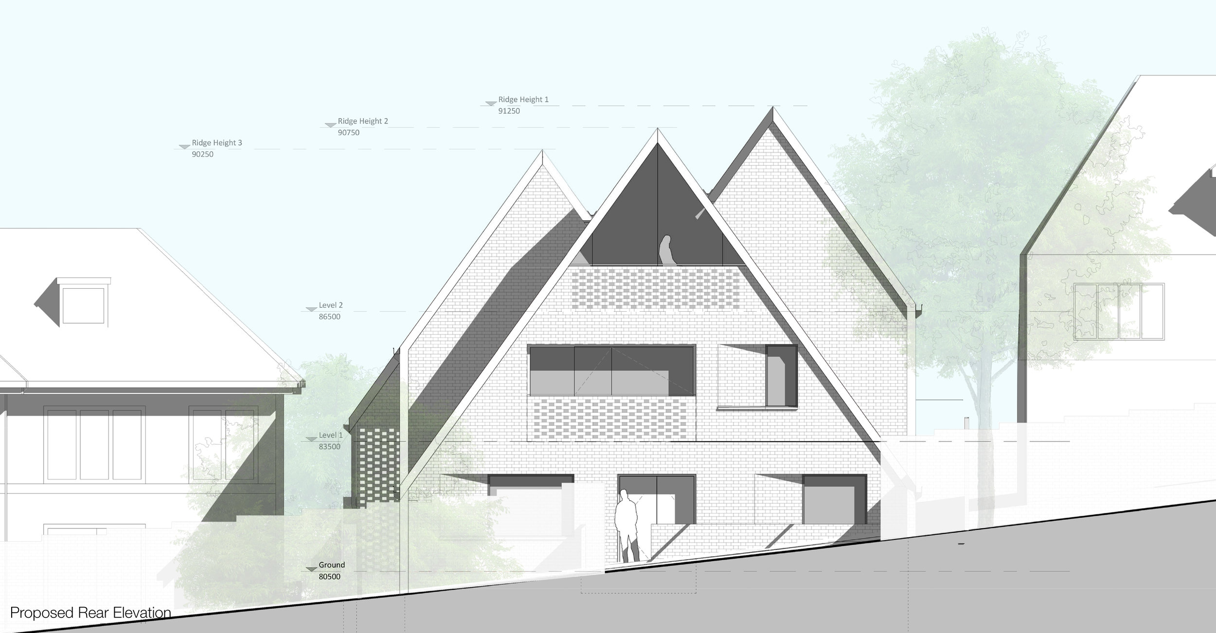 © Copyright Studio DS 2018 - the Multi Home Smart Home Rear Elevation