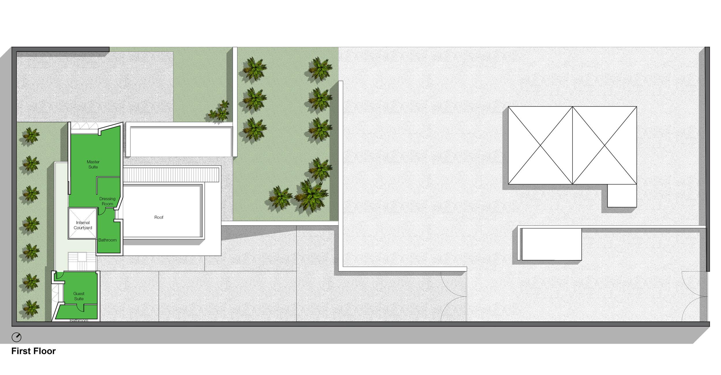 © Copyright Studio DS 2018 - the Beach Villa First Floor Plan