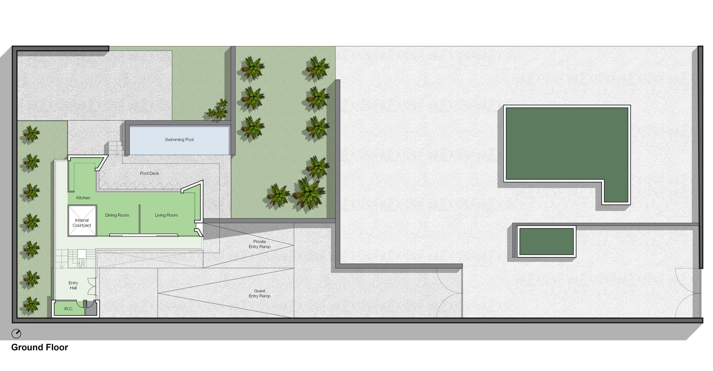 © Copyright Studio DS 2018 - the Beach Villa Ground Floor Plan