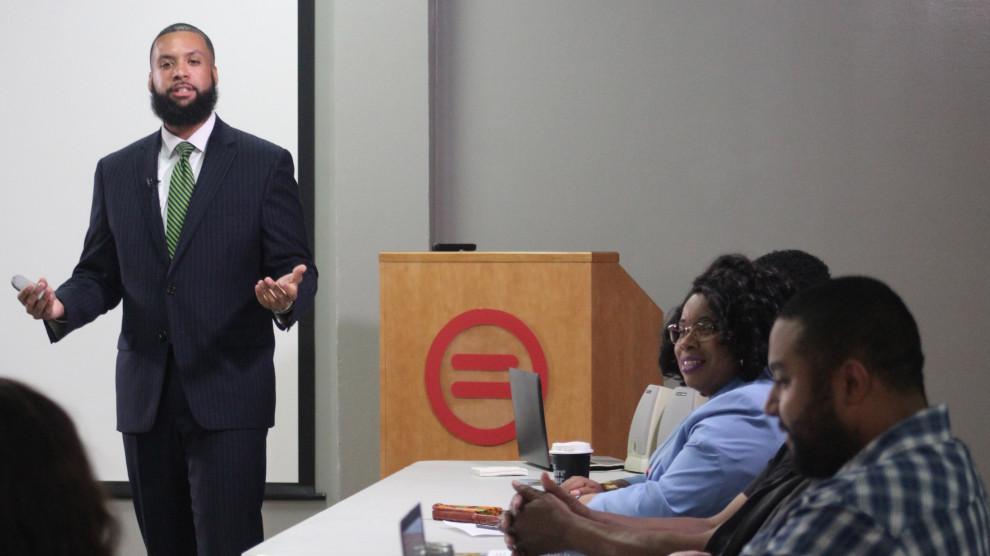 William C. Snowden, director of Vera Institute's New Orleans office, speaks about jury duty  Courtesy of William C. Snowden