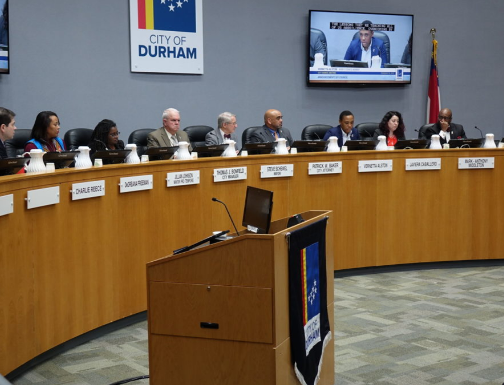 Durham City Council members at the mayor's 2019 State of the City Address  Flickr/City of Durham