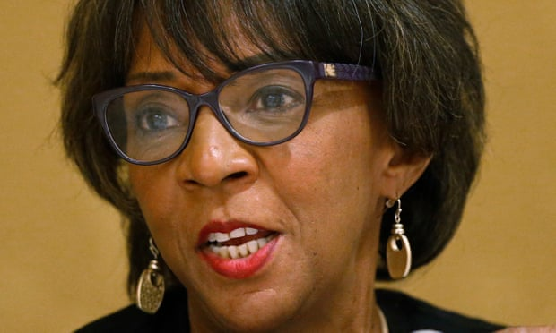 The Los Angeles county district attorney, Jackie Lacey, has continued to pursue death penalty trials despite a state moratorium on the practice. Photograph: Rick Bowmer/AP