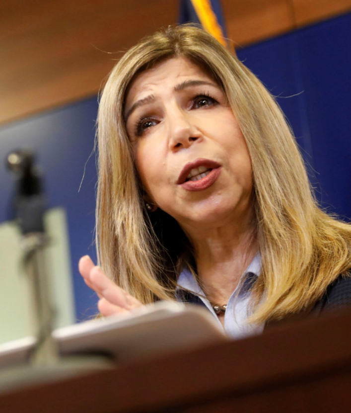 Some district attorneys, including San Diego District Attorney Summer Stephan, have publicly pushed back on sentencing reductions. JOHN GASTALDO/REUTERS, VIA NEWSCOM