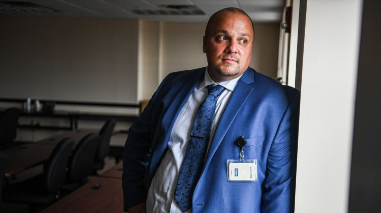 Halim Kaygisiz served time and went on to become director of health outreach services at the Economic Opportunity Council of Suffolk County. He helps low-income Long Islanders find services they need. Photo Credit: Newsday/Steve Pfost