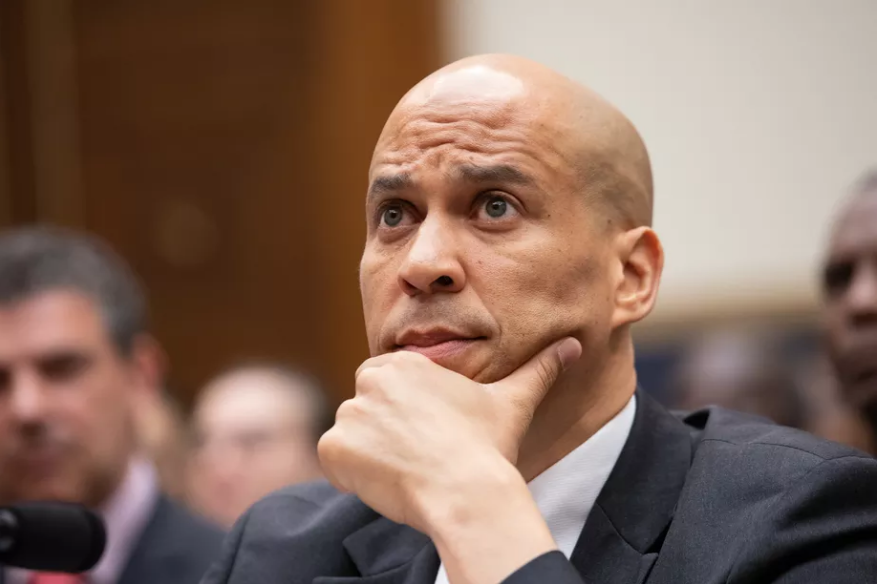 Sen. Cory Booker (D-NJ) testifies in Congress about reparations. Cheriss May/NurPhoto via Getty Images