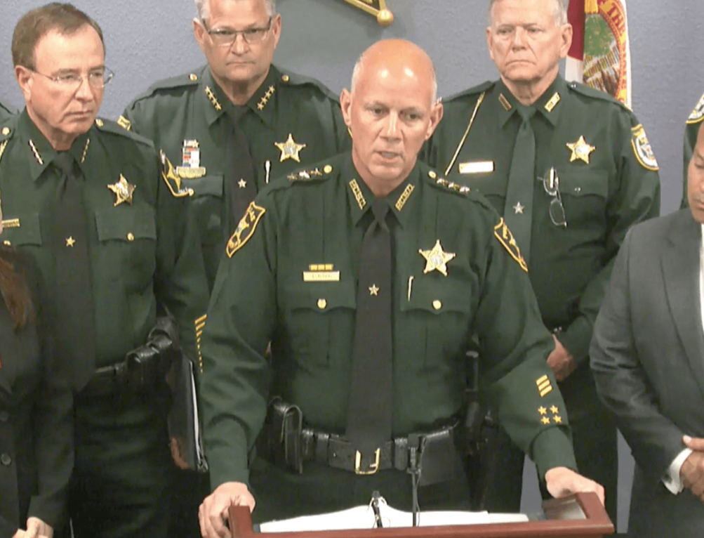 Sheriff Bob Gualtieri at a joint press conference with ICE on May 6, 2019  Facebook/Pinellas County Sheriff's Dept.