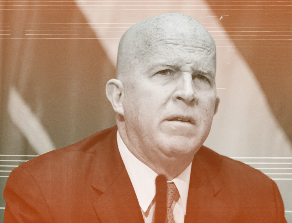 NYPD Commissioner James O'Neill  Photo illustration by Elizabeth Brown. Photo from Getty Images.