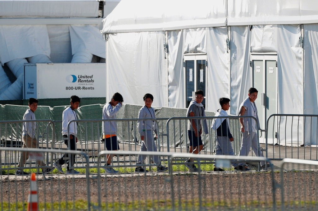 Teenagers at a shelter for unaccompanied children in February in Homestead, Fla.CreditWilfredo Lee/Associated Press