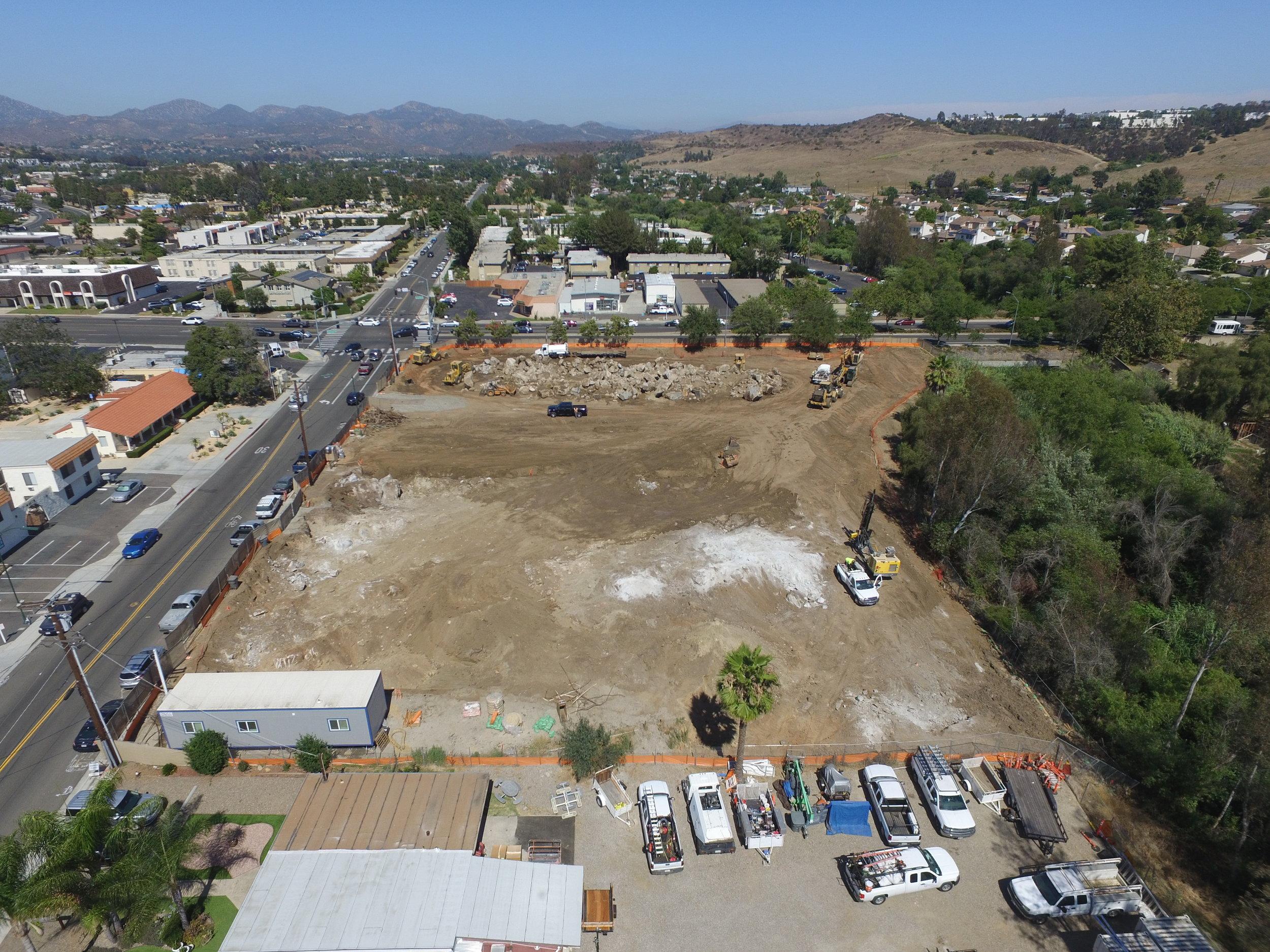 Drone photo of Villa de Vida Poway