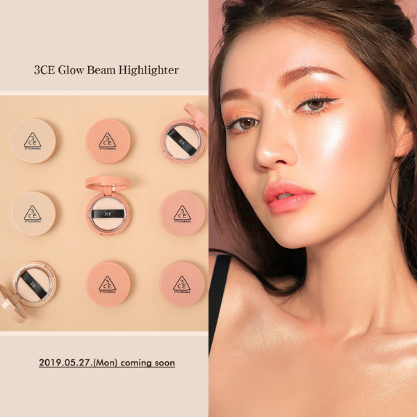 3CE has recently announced its latest highlighter, Glow Beam Highlighter. Image source: Stylenanda