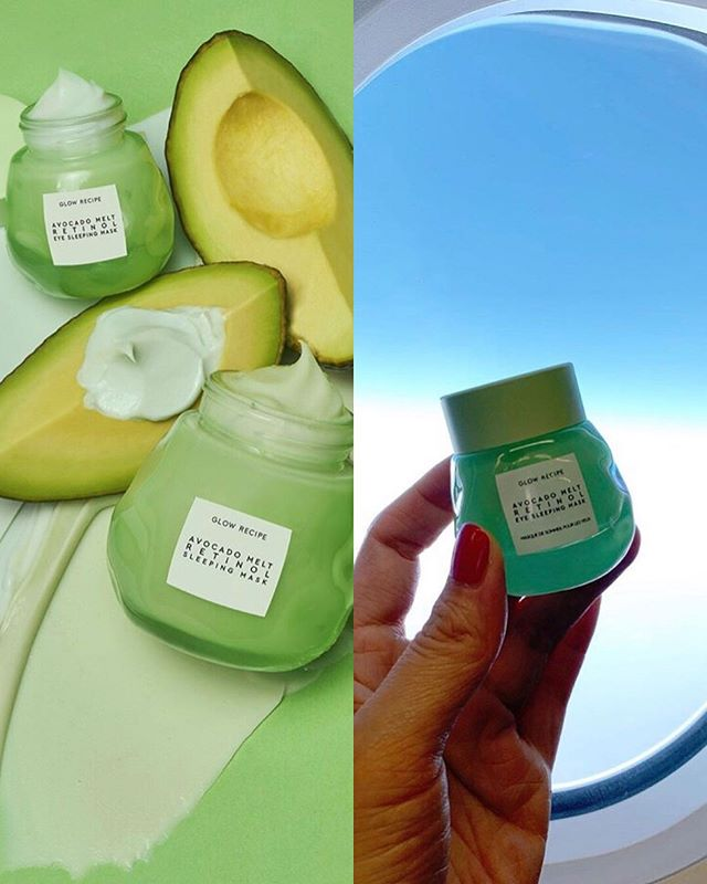 New: Glow Recipe Avocado Melt Retinol Line 🥑 Avocado Melt Retinol Eye Sleeping Mask contains so many good ingredients like Encapsulated Retinol, Hyaluronic Acid & Plant-derived Squalane! The hydrogel base instantly cools and de-puffs skin under the eyes 👀  Avocado Melt Retinol Sleeping Mask helps to plump and smooth out the skin as it's packed with Encapsulated Retinol as well, gentle exfoliating PHAs and calming ingredients like Matcha and Chamomile 🍃 – We're thinking to do a Glow Recipe #giveaway soon, what do you guys think? —— Launching 8 August 2019 on official website. @glowrecipe