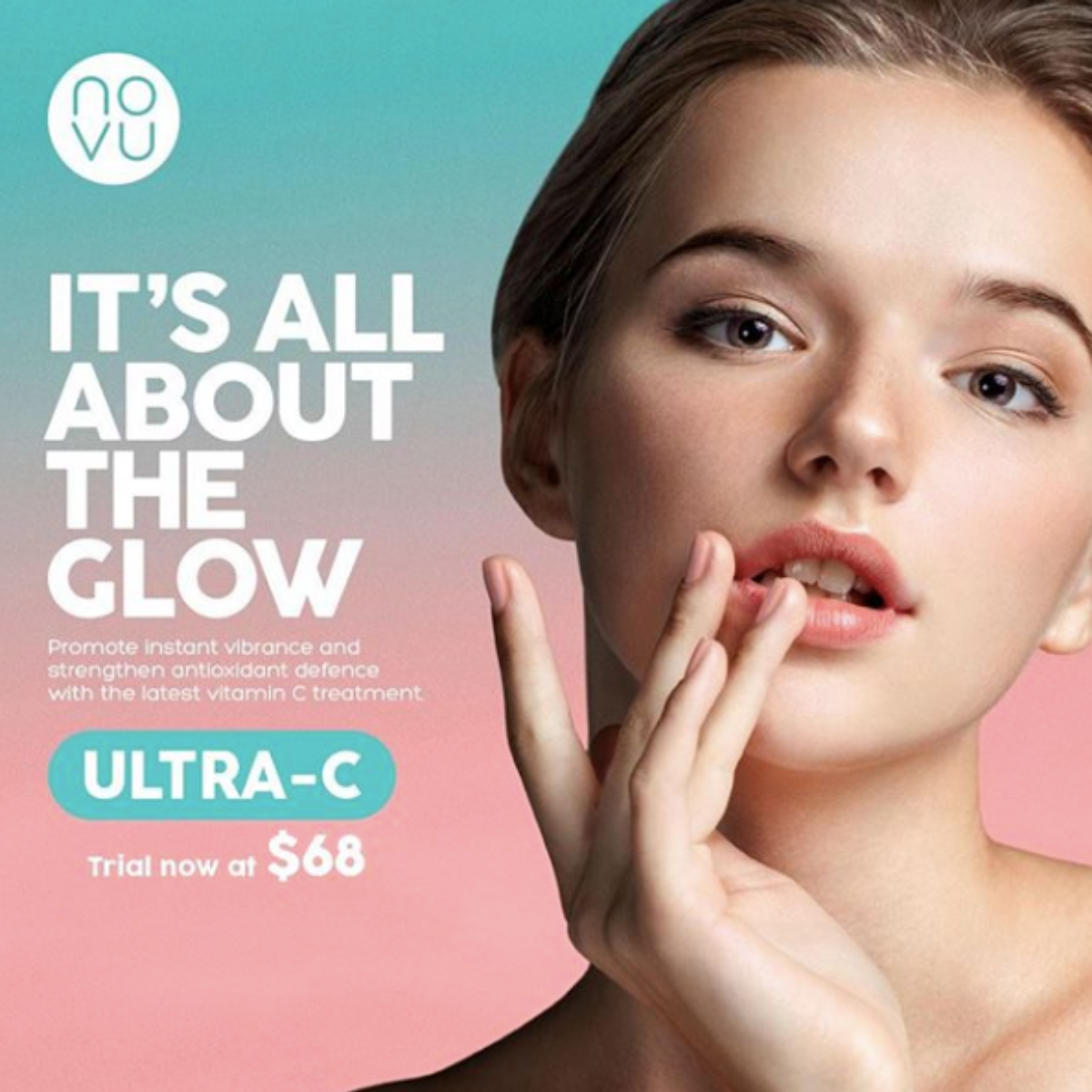 Recharge radiance of your skin with Ultra-C. Image source:  @Novuaesthetics