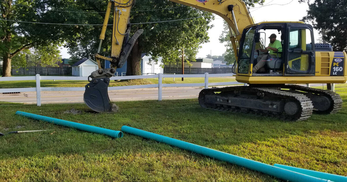 TWN breaks ground on high speed internet home base in Huntington, Indiana