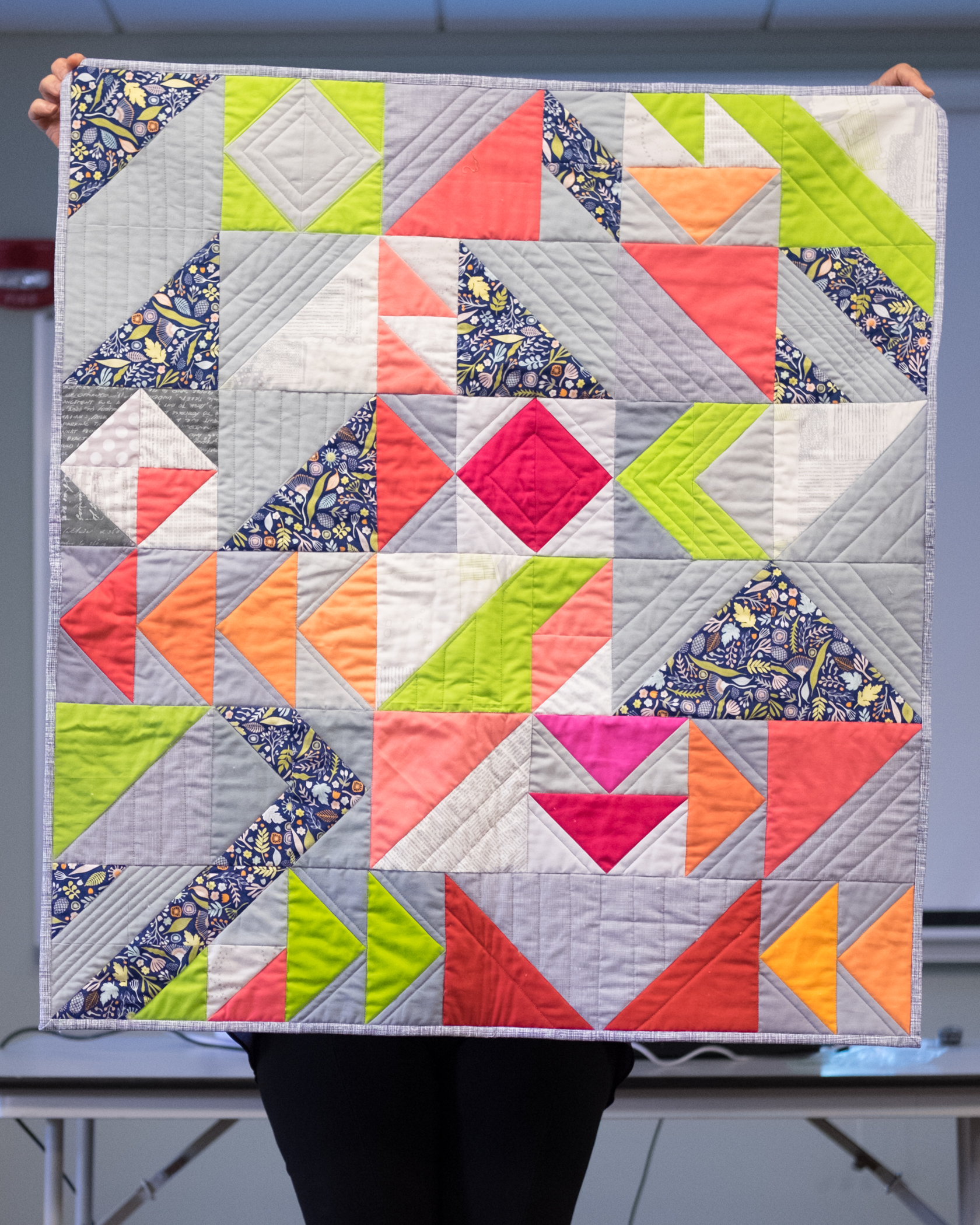 Christine's Wacky Geese Quilt