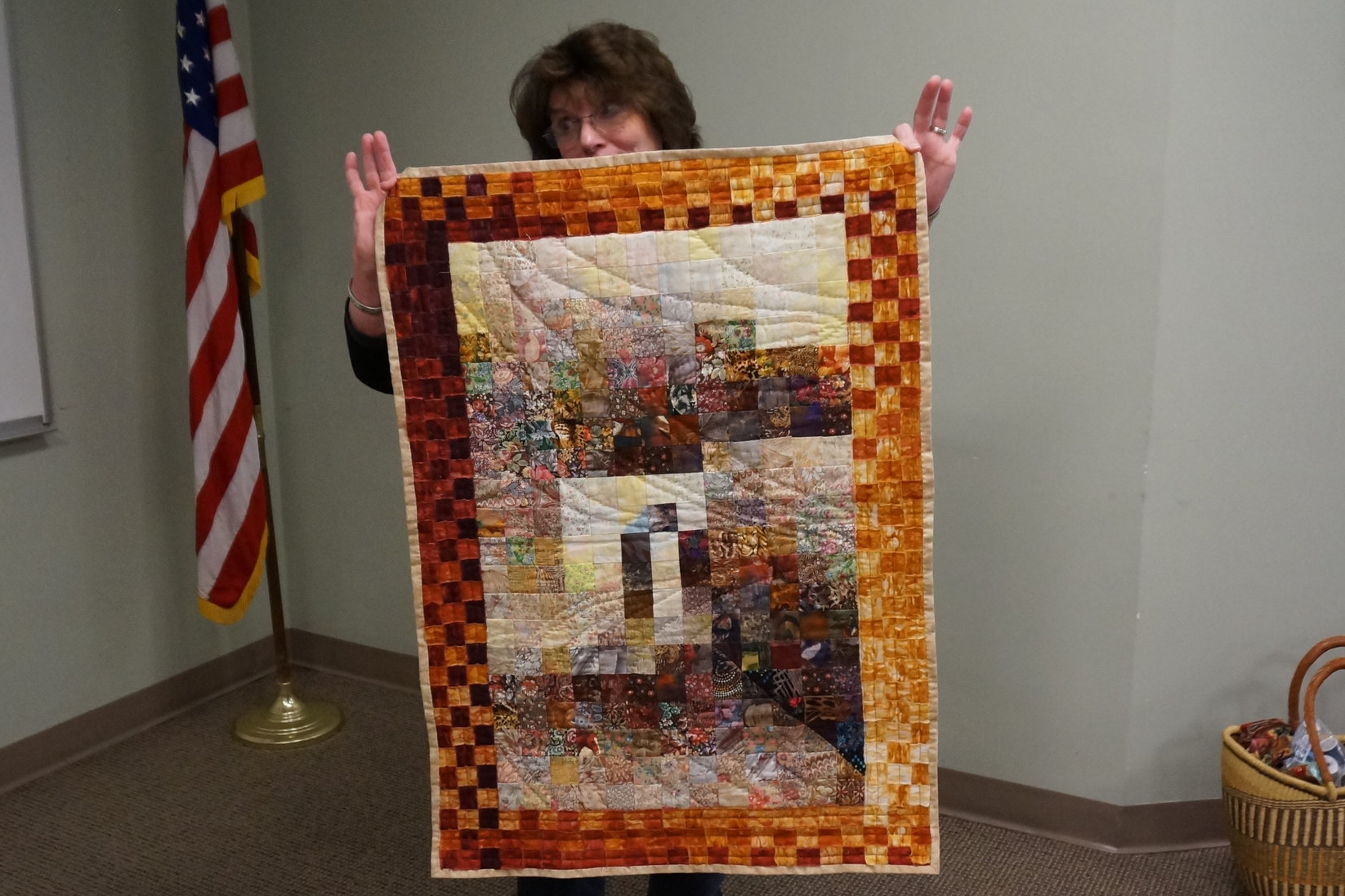 """- Pat says she was considered a """"rebellious"""" quilter for using the now well-known watercolor piecing technique 24 years ago."""