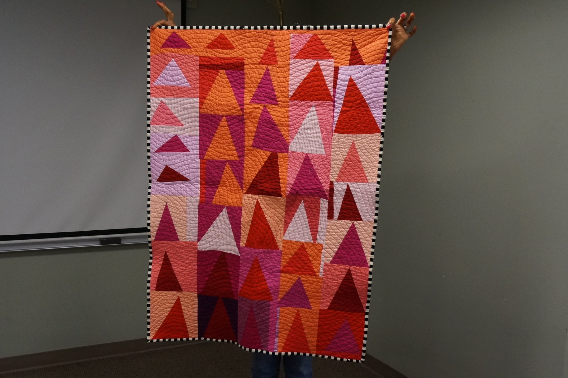 - Beverly's recent quilt was also made in a class—a workshop with Denyse Schmidt.