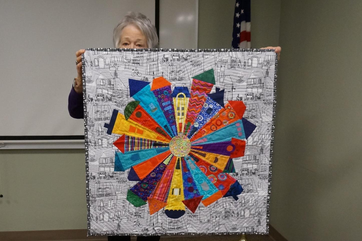 - Suellen's recent quilt is a modern take on the dresden plate—the Dresden Neighborhood.