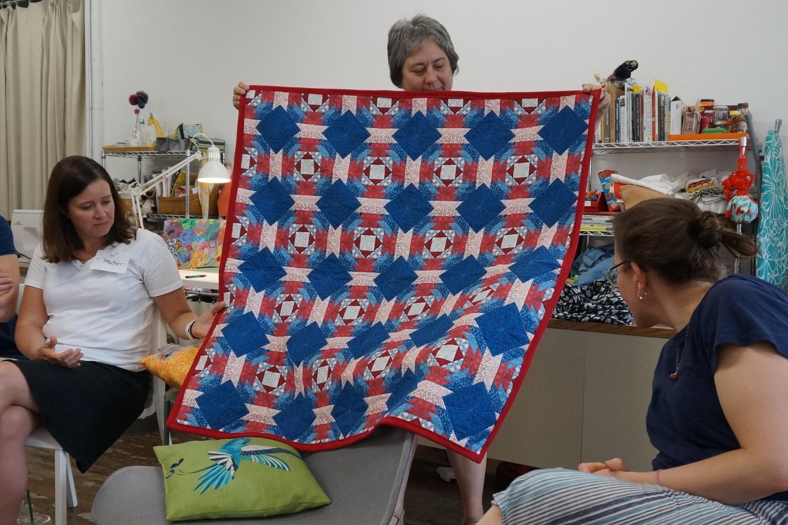 Lil's longarm practice quilt
