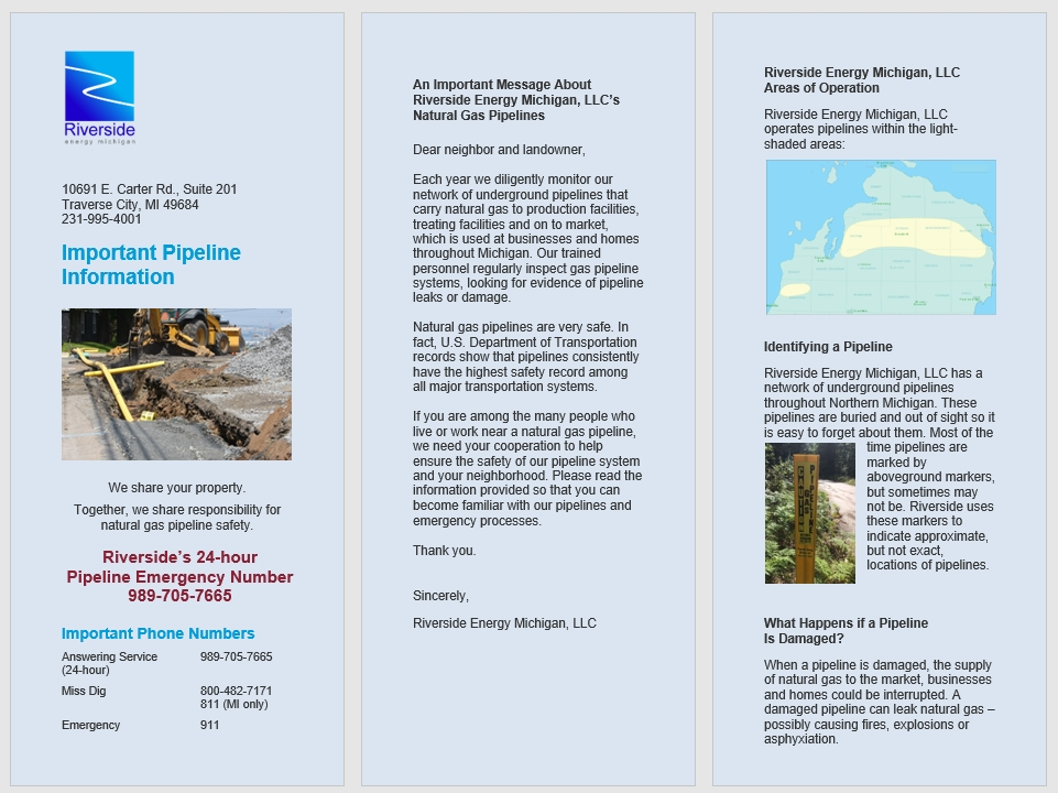 Michigan Operations - Pipeline Safety Guide for the General Public and Excavators