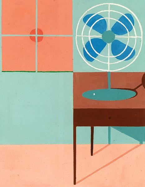 Window, Fan, and Table