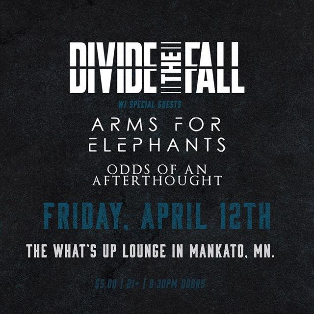 Catch us at The What's Up Lounge tonight with @dividethefall and @oddsofanafterthoughtmn! 🤘😎