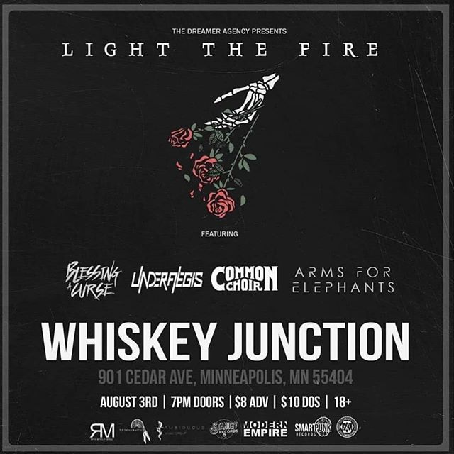 TOMORROW NIGHT! Join us in Minneapolis at Whiskey Junction with our dudes in @commonchoir along with @blessingacurse and @lightthefireband! 🔥🤘