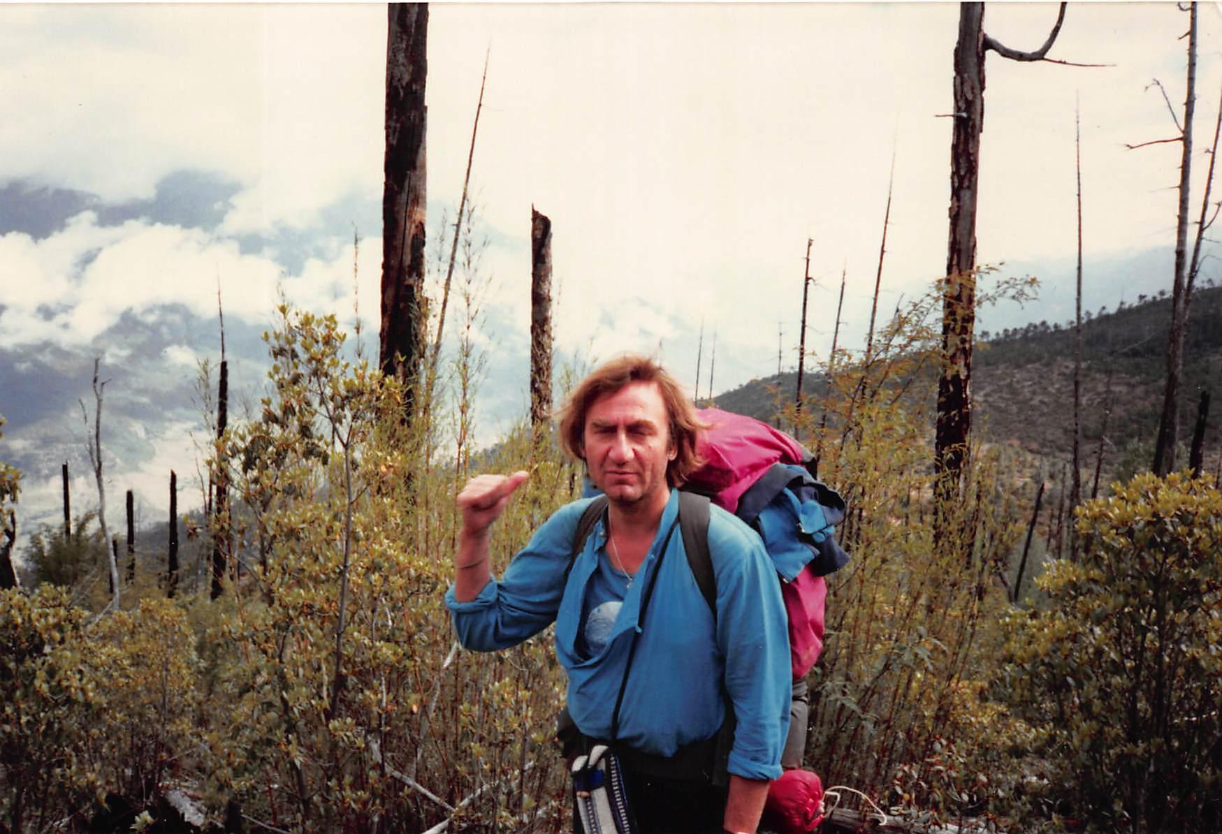 Ralph White in Eastern Khan, 1989