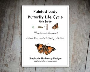 Painted Lady Butterfly Unit Study Bundle Stephanie Hathaway Designs