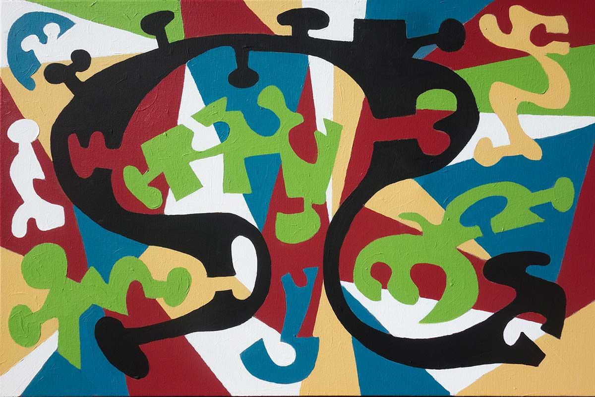 """Tenacity""  24"" x  36""  acrylic on canvas"