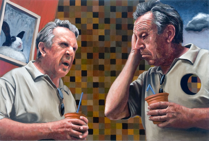 """The Critic""    48"" x  72""    oil on canvas"