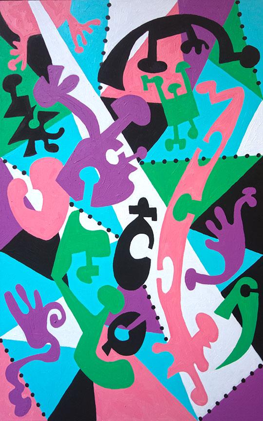 """Grace""  48"" x  30""  acrylic on canvas"