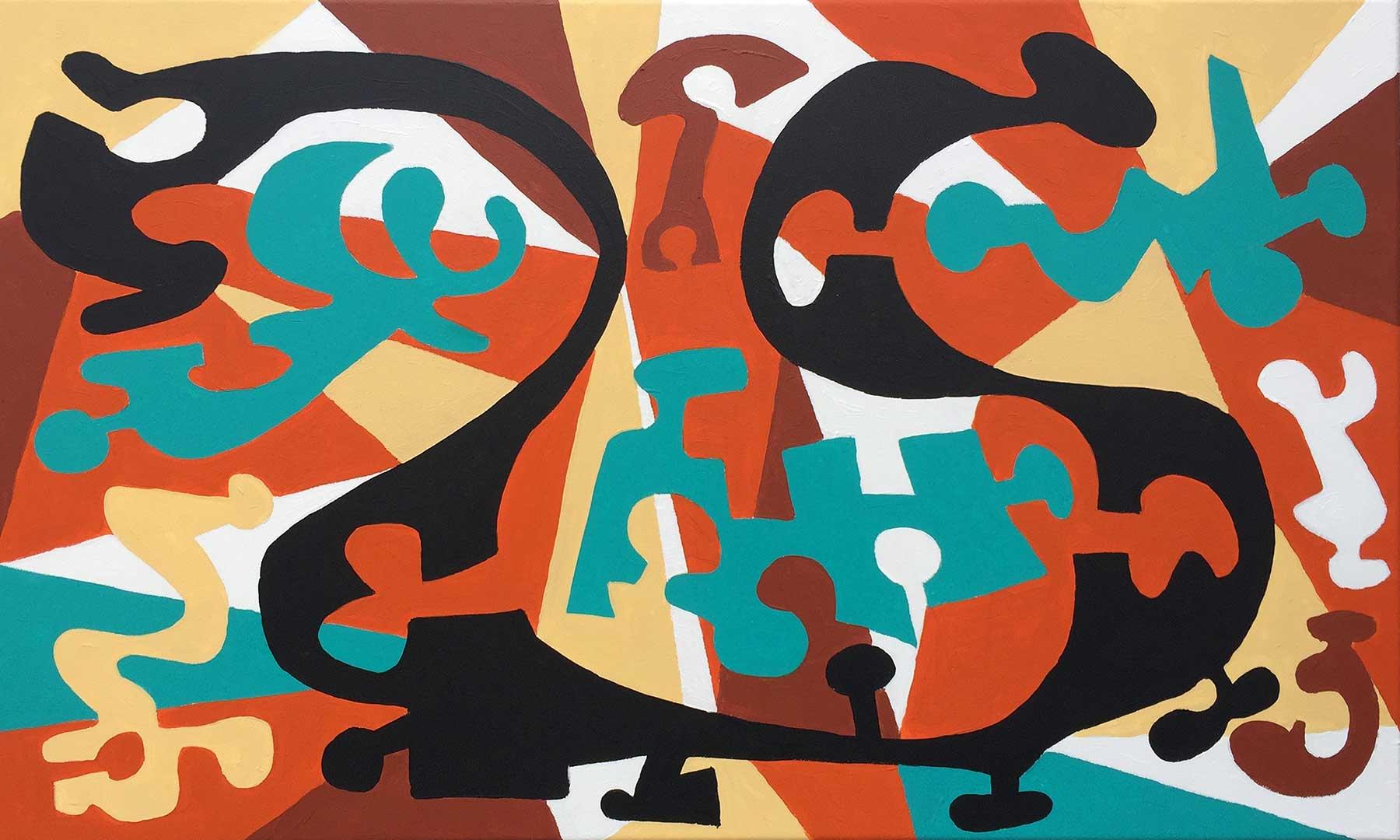 """""""Linterna Mágica""""  24"""" x 40""""  acrylic on canvas"""
