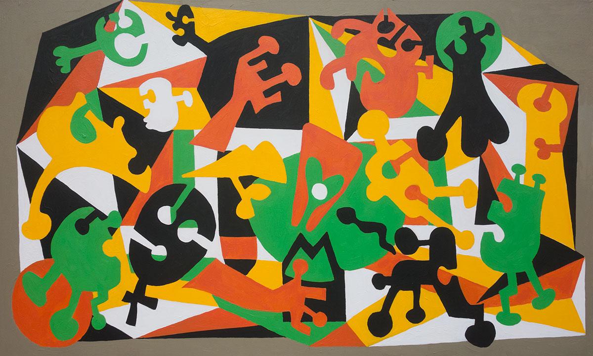 """Urgency""  36"" x 60""  acrylic on canvas"