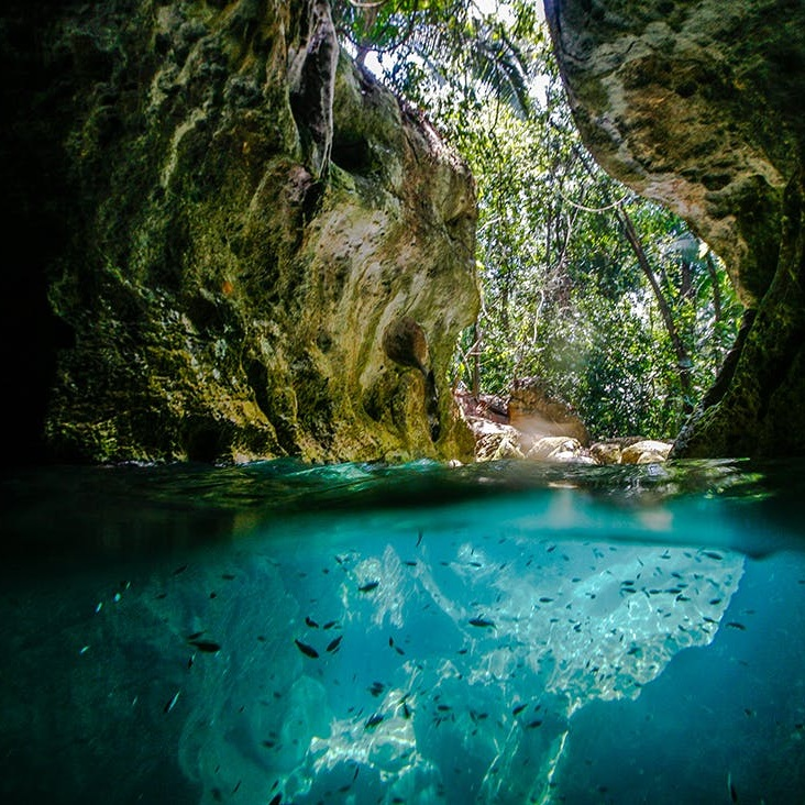 St Herman's Blue Hole Cave - Belize is best known for the tropical jungle and the Maya culture which dwelled within. This day tour is an epic journey thru St. Hermans National Park and into xibalba, the Maya underworld. The park is one of Belize's largest protected areas, diverse in flora, fauna and rich in history. Enjoy a swim in the cool water cenote at the Blue Hole, then descend into St. Hermans Cave for an experience in the Mayan afterlife.
